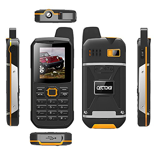 Cectdigi F8 Walkie Talkie Dual Sim Card Phone with Power Bank Charging Function,3000mAh Large Battery Capacity Rugged Phone (Yellow, No TF Card) by Cectdigi