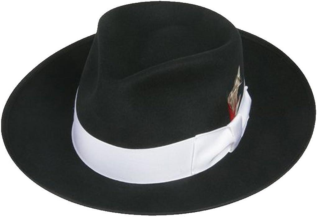 01ed778eb EZ Tuxedo Zoot Fedora Hat in Black with White Band (Boys Small ...