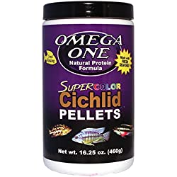 Omega One Super Color Cichlid Small Pellets 16.25oz