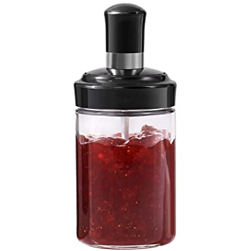 Botella De Condimento De Vidrio Para El Hogar Para Guardar Salsa De Chile/Salsa De