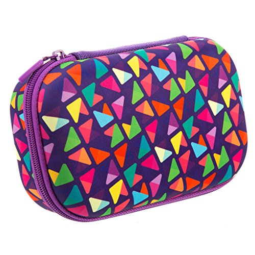ZIPIT Colorz Pencil Case/Pencil Box/Storage Box/Cosmetic Makeup Bag, Purple