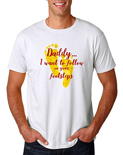 father's days T-shirt father gift Top Dad the perfect gift for Dad Men (L, White FD17)
