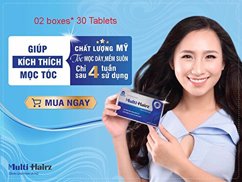 02 boxes *30 tablets - Hair grows more hair - THUỐC MỌC TÓC HEALTH PROTECT FOOD MULTI HAIRZ