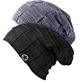 Mens Beanie Hat - Winter Warm Soft Thick Slouchy Knit Caps for Men and Women (56-59 cm)
