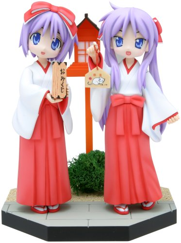 Dream Tech Lucky Star Non Scale Pre-Painted PVC Figure: Hiiragi Kagami & Hiiragi Tsukasa (Limited Version) by Wave
