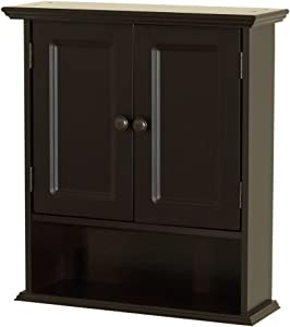 Zenna Home Collette Wall Cabinet, Espresso