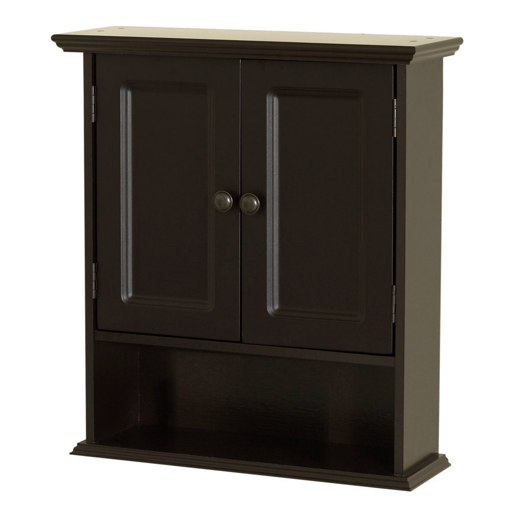 Zenna Home 9918CHA, Collette Wall Cabinet, Espresso by Zenna Home (Image #1)