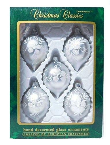 Amazon Com 5 European Vintage Glass Christmas Teardrop Ornaments