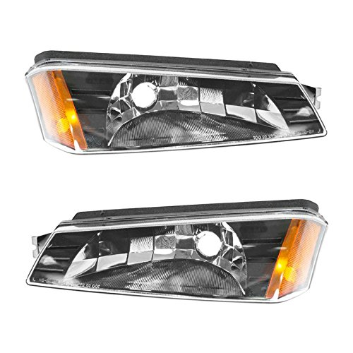 (Corner Marker Parking Light Pair Set LH & RH for Chevy Avalanche Pickup Truck)