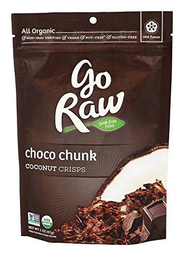 Go Raw Organic Coconut Crisps-Chocolate-2 oz
