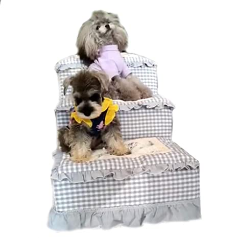 XUEYAN Cama alta, Mascota para perros y gatos Rampa para mascotas Escalera Toparchery Escaleras para