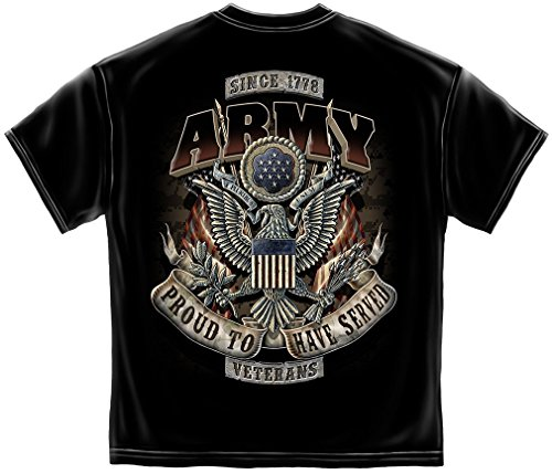 Army T-Shirt Proud To Have Served Large Black (Joe Army T-shirt)