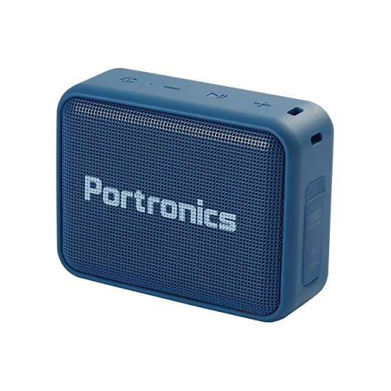 Portronics Dynamo 5W POR-737 Bluetooth 5.0 Portable Stereo Speaker with TWS, USB Music & FM Music and Clear Bass Sound (Blue)