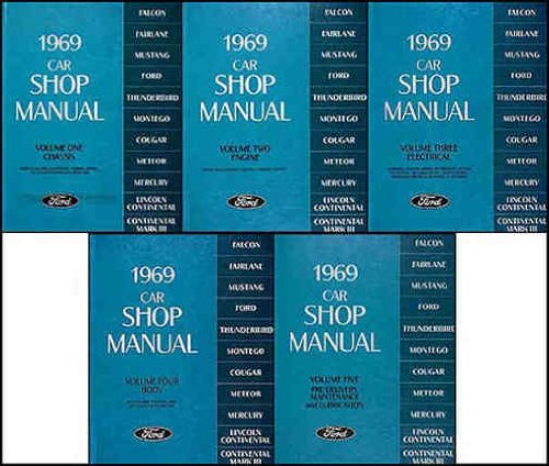 1969 car shop manual 5 volume eboo