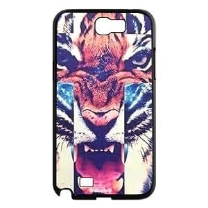 Cross Roar Tiger Design Cheap Custom Hard Case Cover for Samsung Galaxy Note 2 N7100, Cross Roar Tiger Galaxy Note 2 N7100 Case