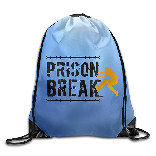 Price comparison product image Prison Break Logo Drawstring Backpack Bag White