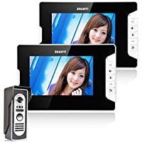 Ennio 7 Inch Video Door Phone Doorbell Intercom Kit 1-camera 2-monitor Night Vision