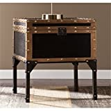 BOWERY HILL Trunk End Table in Black Review