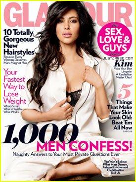 Glamour Magazine February 2011 Kim Kardashian Cover