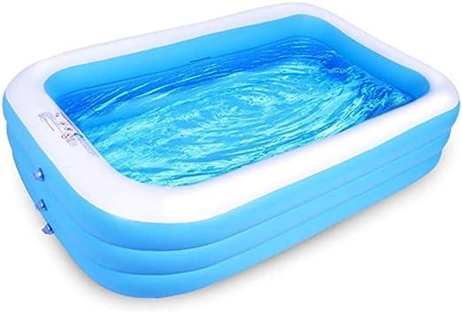 Bingchuan Piscina Inflable Familiar - Centro de natación Jardín al Aire Libre Patio Trasero Piscina de Agua de Verano para bebés Niños Adultos: Amazon.es: Jardín
