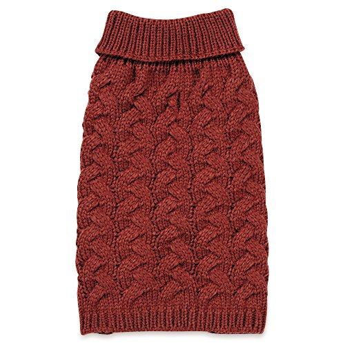 Zack & Zoey Elements Chunky Cable Sweater, Red, Small