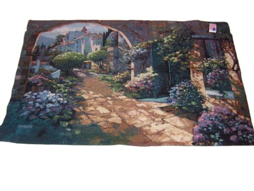 Manual Woodworkers & Weavers Villa Cipriani Archway Tapestry Wall Hanging