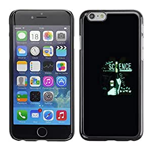 Apple (4.7 inches!!!) iPhone 6 / 6S - Metal de aluminio y de plástico duro Caja del teléfono - Negro - Modern Science