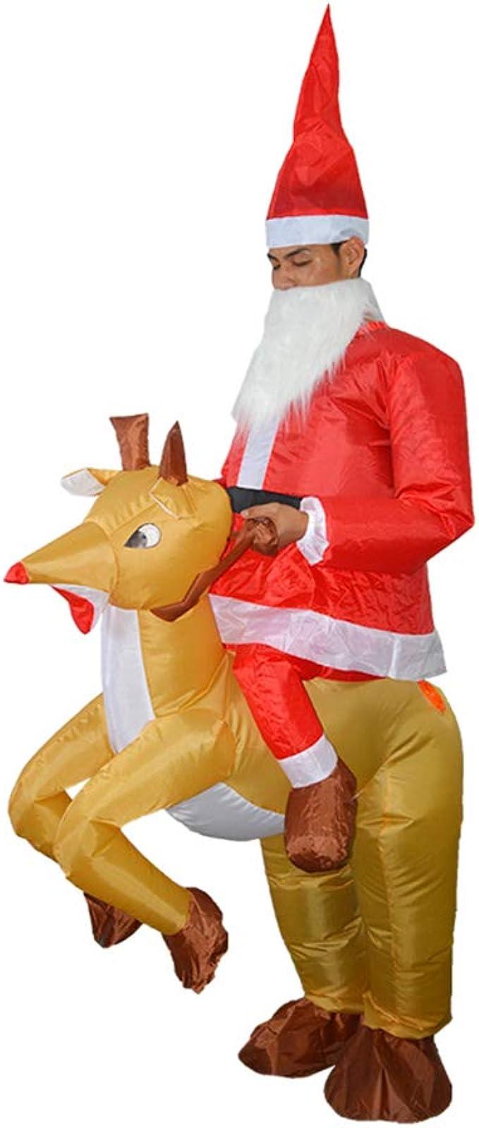 Amazon.com: Disfraz hinchable de Santa Claus Ride con diseño ...