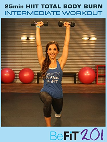 BeFiT 201: 10 min Cardio Fat Burn Interval Workout | Intermediate - Courtney Prather
