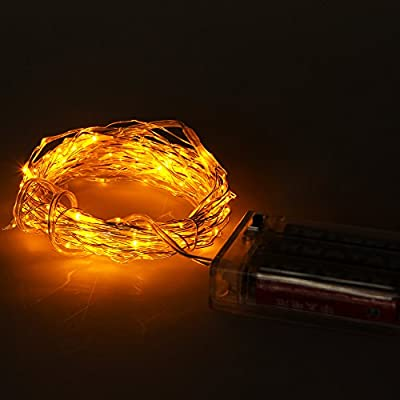 CR2032 Button Battery Powered Copper Wire String Light 2M 20LED