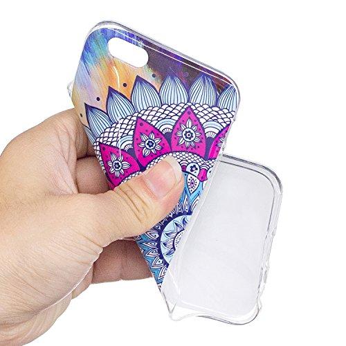 Custodia per iPhone 6S Plus / 6 Plus 5.5 ,JIENI Cranio colorato TPU Merletto colorato Flessibile Sottile Protettivo Morbido Silicone Custodia Skin Bumper Case per iPhone 6S Plus / 6 Plus 5.5
