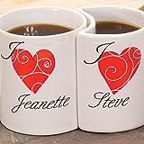 Personalized Heart Mugs (Set of 2)