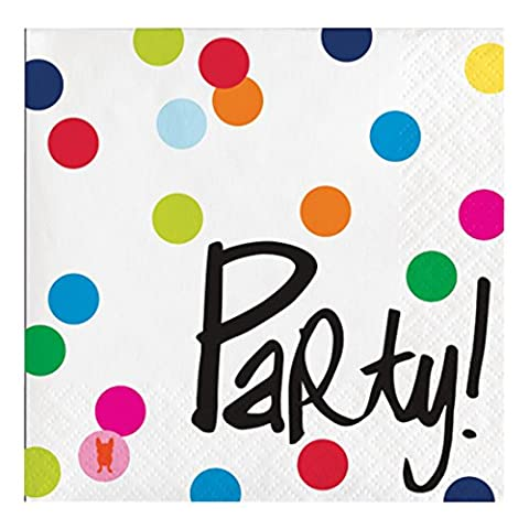 French Bull Birthday Dots- 3-Ply Beverage Napkins, 20-Count