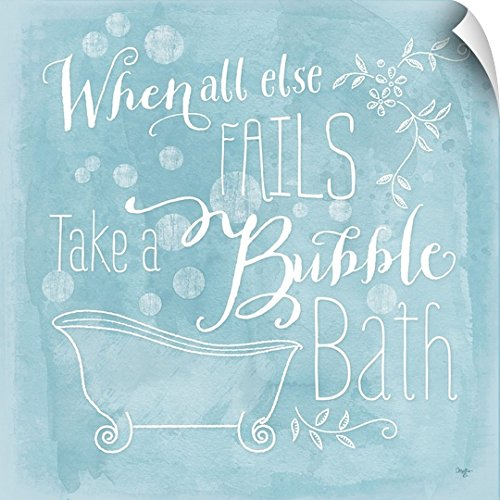 Canvas on Demand Mollie B. Wall Peel Wall Art Print entitled Take a Bubble Bath 30