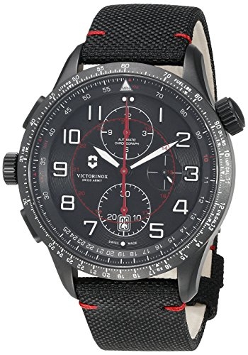 Victorinox 241716 AirBoss Mach 9 Black Edition Hodinky Analog Swiss Automatic Watch (Victorinox Watch Men Mach)