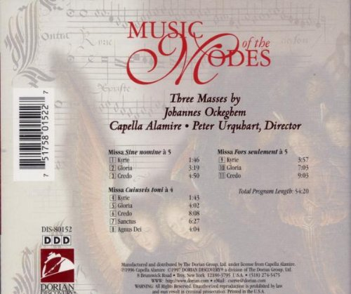 Music of the Modes:  Three Masses by Johannes Ockeghem