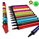 Magicdo 36 pcs Triangular Art marker, Washable Watercolor Marker Pen for Coloring Book and Craft Project, Safe Highlighter Pain Pen with Non-Toxic Water-based Ink by Magicdo