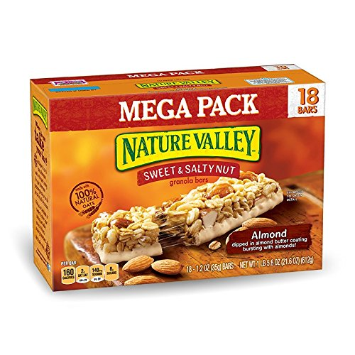Nature Valley Granola Bars, Sweet and Salty Nut, Almond, 1.2 Ounce, 18 Count