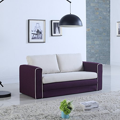 Modern Modular Convertible Sleeper Purple