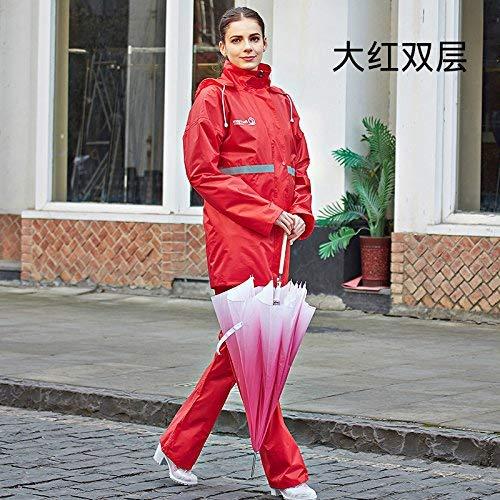 Imperméable Fend Imperméables Et L'environnement De Pantalon Pluie Assainissement Vêtements Réfléchissant Femmes Combinaison Verts Routière Les Avertissant Hommes Sécurité D'un RS1URFr