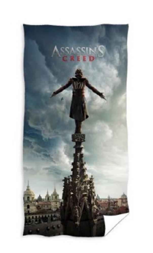 Assassins Creed Assassin's handtuc 70x 140Serviette de sauna serviette de bain coton certifié Öko-Tex (Bleu) Carbotex