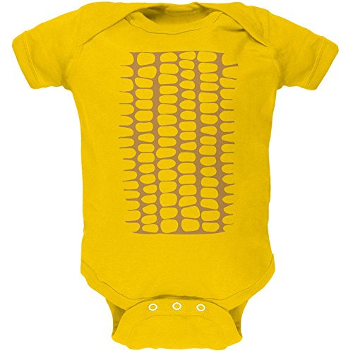 Halloween Corn on the Cob Costume Soft Baby One Piece Yellow 12-18 M