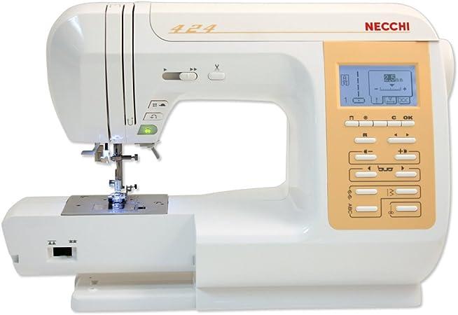 Necchi N424 Eléctrico - Máquina de Coser (Blanco, Costura, 5 mm ...