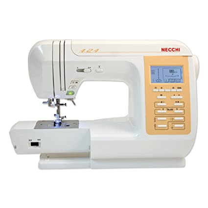 Necchi N424 Eléctrico - Máquina de coser (Blanco, Costura, 5 mm, LCD