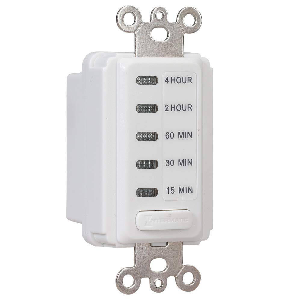 Intermatic EI205W 5//15//30//45//60 Minute Electronic In-Wall Countdown Auto-Off Timer White