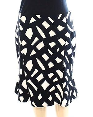 Calvin Klein White Print Women's Straight Pencil Skirt $79 Black 2