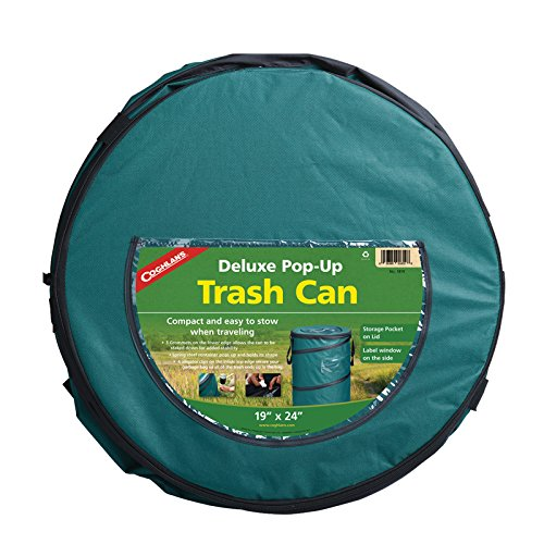 Pop-Up Trash Can is a space saver in a trailer or rv