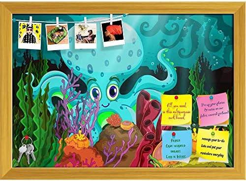 Amazon.com: ArtzFolio - Pizarra gigante de octopus ...