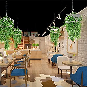 Artificial Ivy Fake Hanging Vine Plants Decor Plastic Greenery for Home Hotel Office Kitchen Wedding Party Garden Craft Art Decor Hanging Basket (Pack of 4PCS) 5