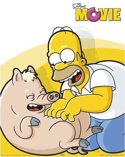 LAMINATED The Simpsons Homer Spider Pig Tickle 20